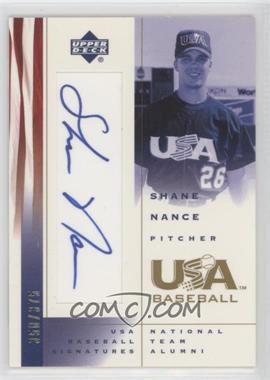 2002 Upper Deck USA Baseball - Signatures #SN - Shane Nance /375
