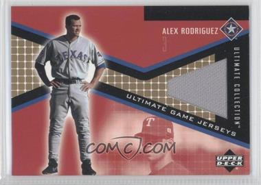 2002 Upper Deck Ultimate Collection - Ultimate Game Jerseys - Tier 3 #JP-AR - Alex Rodriguez