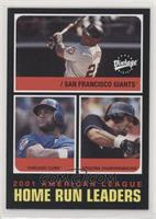 Barry Bonds, Sammy Sosa, Luis Gonzalez (Names Not Printed on Front)
