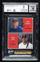 Mark Teixeira, Carlos Pena [JSA Certified Encased by BGS]