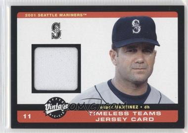 2002 Upper Deck Vintage - Timeless Teams Jerseys #J-EMa - Edgar Martinez