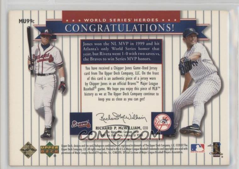 brand new 84ce7 8aa56 2002 Upper Deck World Series Heroes - Classic World Series ...