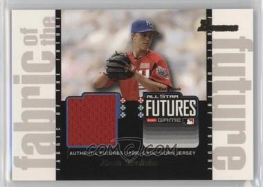 2003 Bowman Draft Picks & Prospects - Fabric of the Future #FF-ZG - Zack Greinke