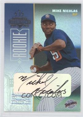 2003 Donruss Champions - [Base] - Signatures #293 - Mike Nicolas /500