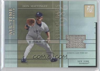 2003 Donruss Elite - All-Time Career Best - HoloGold Materials [Memorabilia] #AT-8 - Don Mattingly /53