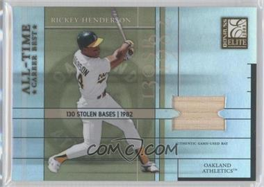 2003 Donruss Elite - All-Time Career Best - Materials [Memorabilia] #AT-33 - Rickey Henderson /400
