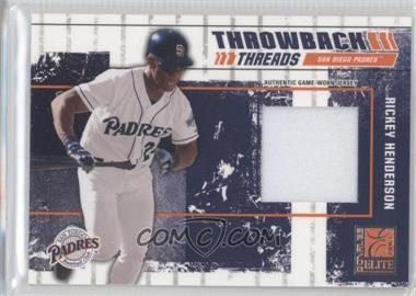 2003 Donruss Elite - Throwback Threads #TT-53 - Rickey Henderson /125