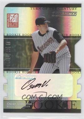 2003 Donruss Elite Extra Edition - [Base] - Turn of the Century Die-Cut Autographs [Autographed] #36 - Oscar Villarreal /100