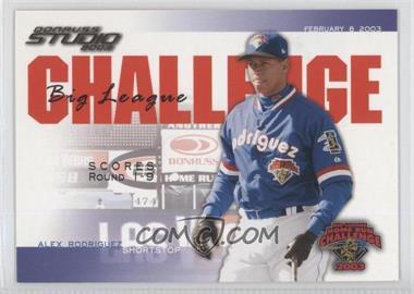 2003 Donruss Studio - Big League Challenge - Gold #BLC-46 - Alex Rodriguez /25