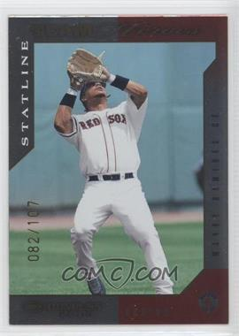 2003 Donruss Team Heroes - [Base] - Stat Line #82 - Manny Ramirez /107