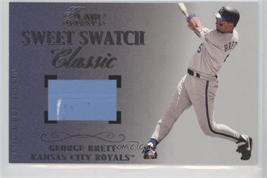 2003 Flair Greats - Box Topper Sweet Swatch Classic Jersey - Oversized #GEBR - George Brett /384