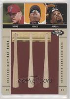 Jim Thome, Chipper Jones, Mike Piazza #/250