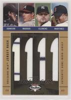 Randy Johnson, Greg Maddux, Roger Clemens, Pedro Martinez #/150