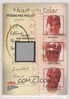 Pat Burrell, Bobby Abreu, Jimmy Rollins (Jimmy Rollins Jersey) #/400