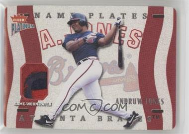 2003 Fleer Platinum - Nameplates #N-AJ - Andruw Jones /170