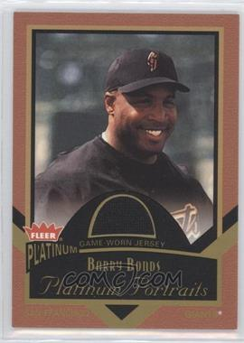 2003 Fleer Platinum - Portraits - Jerseys [Memorabilia] #PP/BB - Barry Bonds