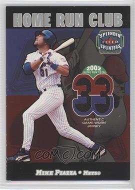 2003 Fleer Splendid Splinters - Home Run Club - Memorabilia [Memorabilia] #N/A - Mike Piazza /599