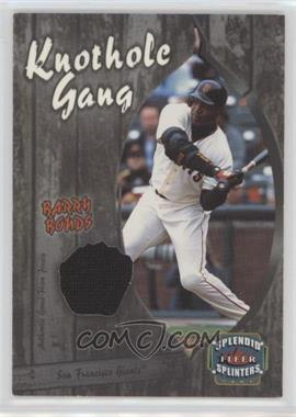 2003 Fleer Splendid Splinters - Knothole Gang Jersey #BB-KG - Barry Bonds