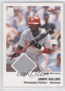 2003 Fleer Tradition - [Base] - Materials [Memorabilia] #JIRO - Jimmy Rollins /100