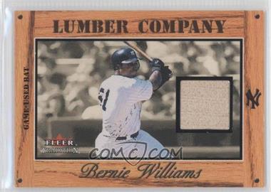 2003 Fleer Tradition - Lumber Company - Bats [Memorabilia] #BEWI - Bernie Williams