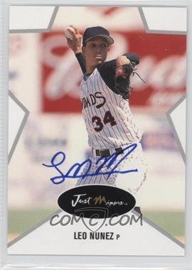 2003 Just Minors Just Stars - [Base] - Autographs [Autographed] #38 - Leo Nunez /375