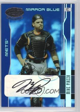 2003 Leaf Certified Materials - [Base] - Mirror Blue Signatures [Autographed] #117 - Mike Piazza /15