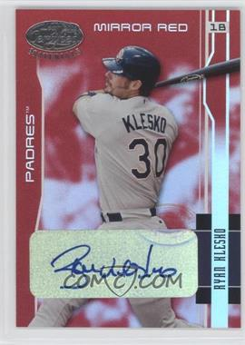 2003 Leaf Certified Materials - [Base] - Mirror Red Signatures [Autographed] #154 - Ryan Klesko /10