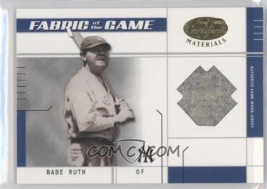 2003 Leaf Certified Materials - Fabric of the Game #FG-15.1 - Babe Ruth (Infield) /1
