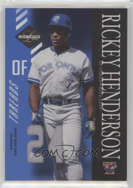 2003 Leaf Limited - [Base] - Threads Jersey Number [Memorabilia] #96 - Rickey Henderson /24