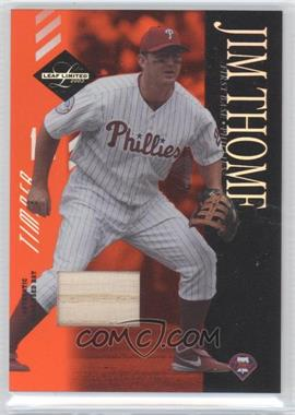 2003 Leaf Limited - [Base] - Timber Bats [Memorabilia] #53 - Jim Thome /25