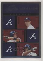 Greg Maddux, Chipper Jones, Andruw Jones #/100