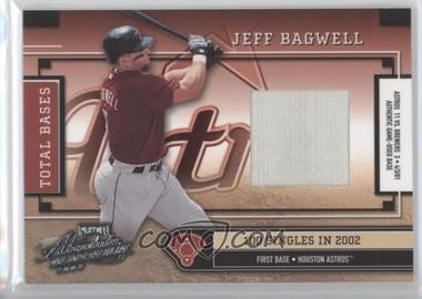 2003 Playoff Absolute Memorabilia - Total Bases - Materials Single [Memorabilia] #TB-27 - Jeff Bagwell /100