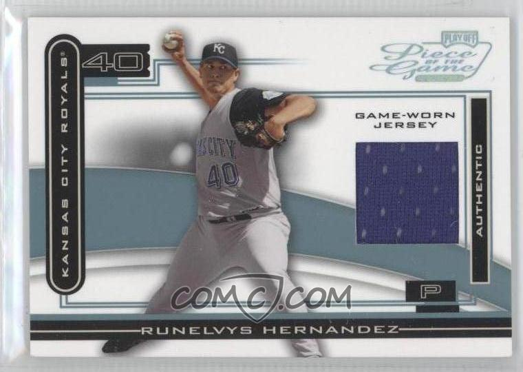 2003 Playoff Piece of the Game -  Base  - Platinum  POG-98 - Runelvys  Hernandez  25 a8dbe9fc5