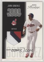 Juan Gonzalez (Cleveland Indians) #/325