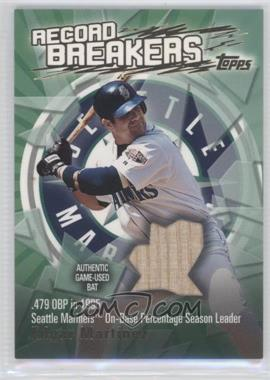 2003 Topps - Record Breakers - Relics #RBR-EM - Edgar Martinez