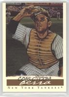 Yogi Berra (brown chest protector, with ads)