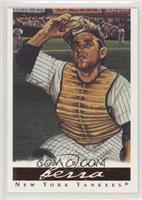 Yogi Berra (Gold Chest Protector; Signs in Background)