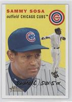 Sammy Sosa (Yellow Background, Logo has the Cubs Word)