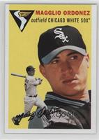 Magglio Ordonez (Yellow Background, Drawiiing of Sox in Logo)