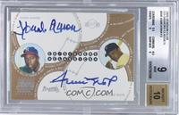 Hank Aaron, Willie Mays [BGS 9 MINT]