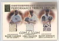 Roger Clemens, Greg Maddux, Randy Johnson