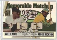 Willie Mays, Reggie Jackson #/150