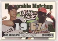 Carl Yastrzemski, Lou Brock #/150