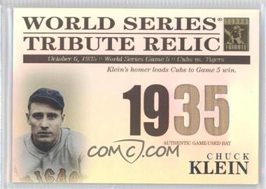 2003 Topps Tribute World Series - Tribute Relics #TR-CK - Chuck Klein /425