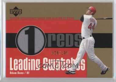2003 Upper Deck - Leading Swatches - Gold #LS-AD1 - Adam Dunn /100
