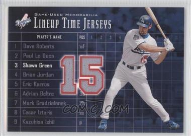 2003 Upper Deck - Lineup Time Jerseys #LT-SG - Shawn Green
