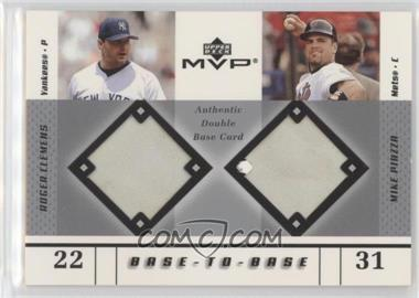 2003 Upper Deck Mvp Base To Base Bb Cp Roger Clemens Mike Piazza