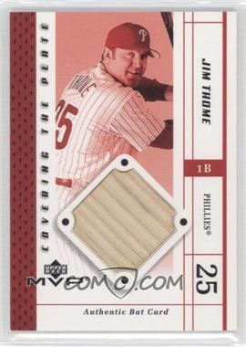 2003 Upper Deck MVP - Covering the Plate #CP-JT - Jim Thome
