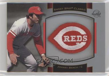 2003 Upper Deck Sweet Spot Classic - Souvenir Logo Patch #P-JB1 - Johnny Bench