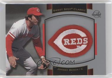 2003 Upper Deck Sweet Spot Classic - Souvenir Logo Patch #P-JB1 - Johnny Bench